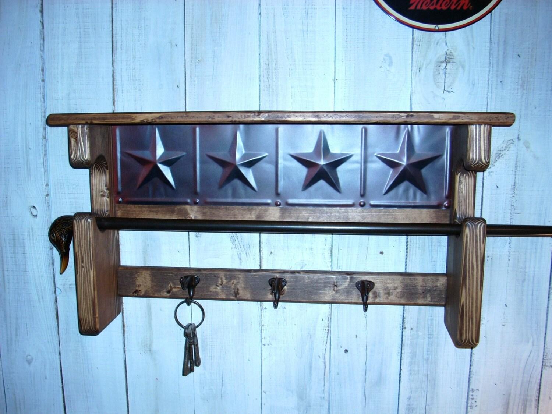 Wall Mounted Gun Rack Coat Rack Shelf