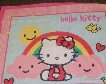 Hello Kitty reversible quilt