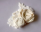 SILK Mistic Fancy Rose Fascinator - gaeradesign