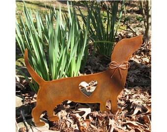 Dachshund Dog Metal Garden Stake - Metal Yard Art - Metal Garden Art - Pet Memorial