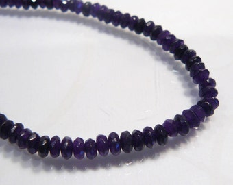 10 Beads....Deep Purple Jade Faceted Rondelle Gemstone Beads.....4mm...BB