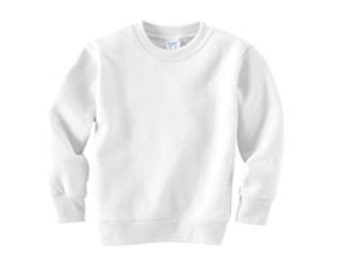 Sweatshirt white Toddler   Size  12 months or 18 months great for crafts