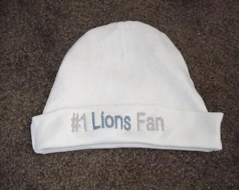 Detroit Lions Football Baby Infant Newborn Hat