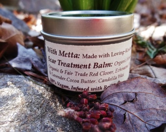 Scar Treatment Balm with Organic and Fair Trade Ingredients.100% VEGAN. Reiki infused.