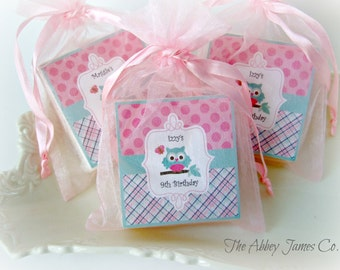 Owl Favors, Owl Party Favors, Owl Baby Shower, set of 10 soap favors
