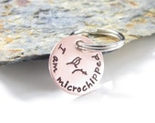Pet Tag - Microchipped Pet - I am microchipped - Hand Stamped - Copper Petite - Small Copper Tag - Copper Pet Tag - Choose your Design