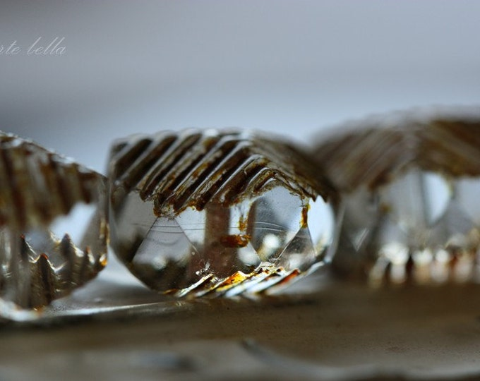WICKED WAVES .. 6 Picasso Czech Glass Bead 14x10mm (3495-6)