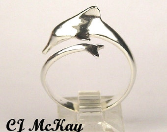Dolphin Ring Sterling Silver CR29S