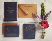 Reserved for Amy -- The Great Gatsby Art Deco Wedding Invitation
