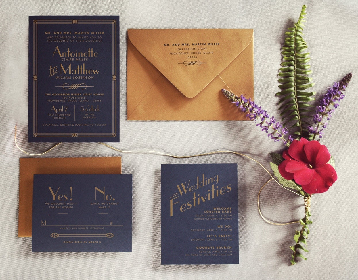 Great Wedding Invites: The Great Gatsby Art Deco Wedding Invitation By Inviteddesign