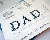 Project Happy Fathers Day - Architecture Construction Card