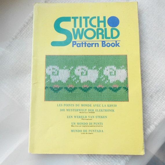 Knitting Stitch Patterns Book : DESTASH Stitch World Pattern Book Knitting Machine
