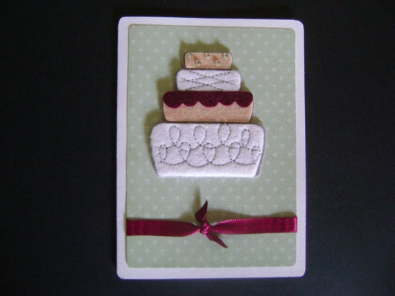 Handmade Card - Wedding Cake Card