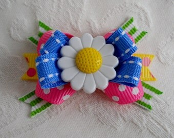 Dog Bow- Spring Daisy or Butterfly Boutique Dog Bow