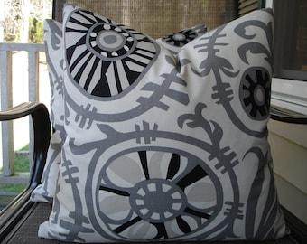 Suzani Pillow Covers One Pair 18 x 18 Handmade Black Grey Off White Pillows Home Decor Decorative Throw Pillows Suzani Cushion Covers