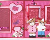 Tear Bears Premade VALENTINES DAY Scrapbook Pages Sweet and Cute by Tammie