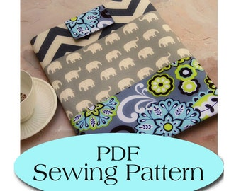 Macbook 13 Sleeve ,Padded Macbook Sleeve , Macbook Case Pattern, Macbook Cover PDF Sewing Pattern Ebook Sewing Tutorial,  Digital Download
