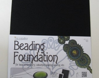 Bead Smith Beading Foundation- one sheet 8.5 x 11 inches - Black