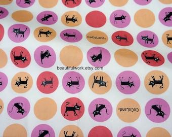 Cocoland Cat print Japanese Fabric  (n211)