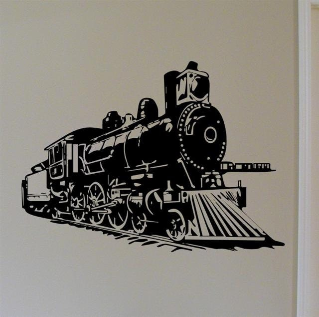 Locomotive Steam Engine Train Vinyl Wall Decal By Mojographics