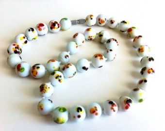Vintage Ceramic Beaded Necklace