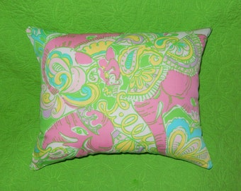 New Pillow made with Lilly Pulitzer Chin Chin fabric