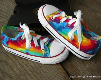Toddler MADE to ORDER ... Tie-Dye Lo Top Converse Sneakers