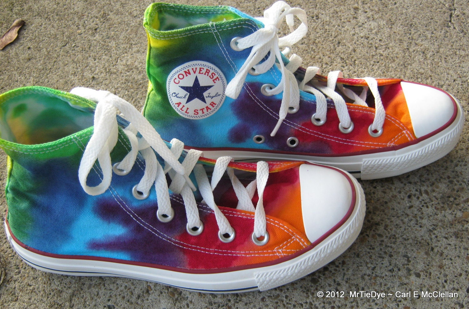 tie dye converse shoes size 6 5 hi top