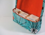 Ready to Ship Coupon Organizer Wallet Atomic in Turquoise with Orange Lining