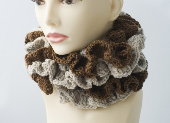 crocheted ruffle scarf instructions
