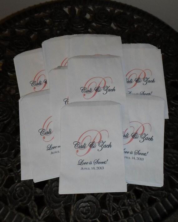 Wedding Candy Buffet Bags Favor Bags Cookie Bar Treat