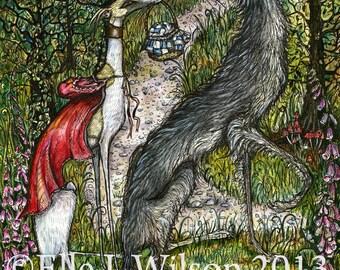 A Tempting Invitation -  Whippet Art Dog Print