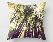 Throw Pillow Case, Bamboo Forest, All-over Print, 16 x 16 Nature, Zen Decor