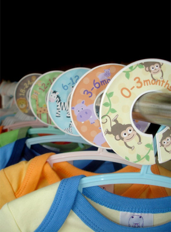 Closet Dividers - Safari Jungle Zoo Animals for Boys and Girls