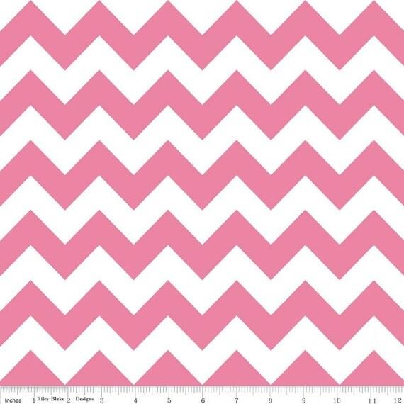 Custom listing for LBHCreations: Riley Blake Designs, Medium Chevron RB320-70 Hot Pink, 2 yards