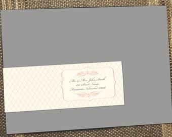 Wrap around address label, Vintage, Script, Address Label, Envelope label, Guest Addressing, return address label, vintage label, recipient