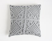 Light gray pillowcase 30 x 30 cm