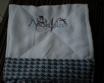 set of three burp cloths.