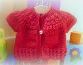 Knitting Pattern Cardigan Sweater Jacket -  Ruby a top down seamless yoked cardigan (6 Sizes 0 -7 yrs)