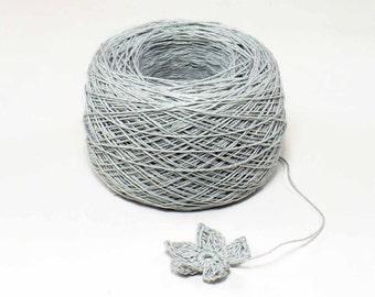 Crochet Thread 3 Ply Linen Thread Silver Gray Linen Yarn Specialty Thread Tatting Thread Eco Friendly Natural Flax