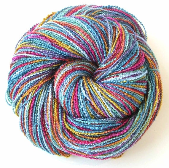 Hand Dyed Yarn Rayon Yarn Rayon Boucle Yarn - Blossom