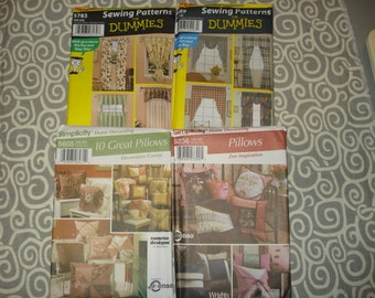 Lot of 4 home accessory patterns