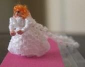 144th scale Bride  - micro-miniature, posable doll
