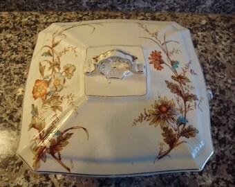 Vintage Rigways Buckingham Covered Floral Transferware Serving Dish
