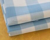 Big Block Blue Gingham- Vintage Fabric Juvenile Traditional Doll Making Nursery Baby