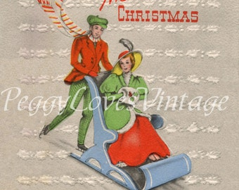 Vintage Christmas Greeting Card Images on CD Vol 14