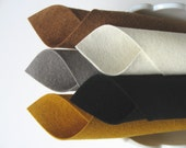 100% Wool, Felt Fabric Sheets, Wool Felt Set, Pirate Color Story, Black, Dull Gold, Ecru, Acorn, Smoke Grey, Felt Quiet Book, DIY Softies