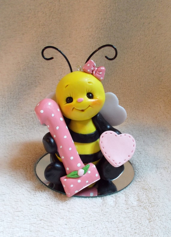 Items similar to BEE CAKE TOPPER: honey bee, bumble bee ...