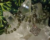 Labradorite Mini Rosary Bracelet Sterling Celtic Square Knot