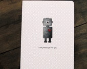 Robot love cute card, I only have eye for you